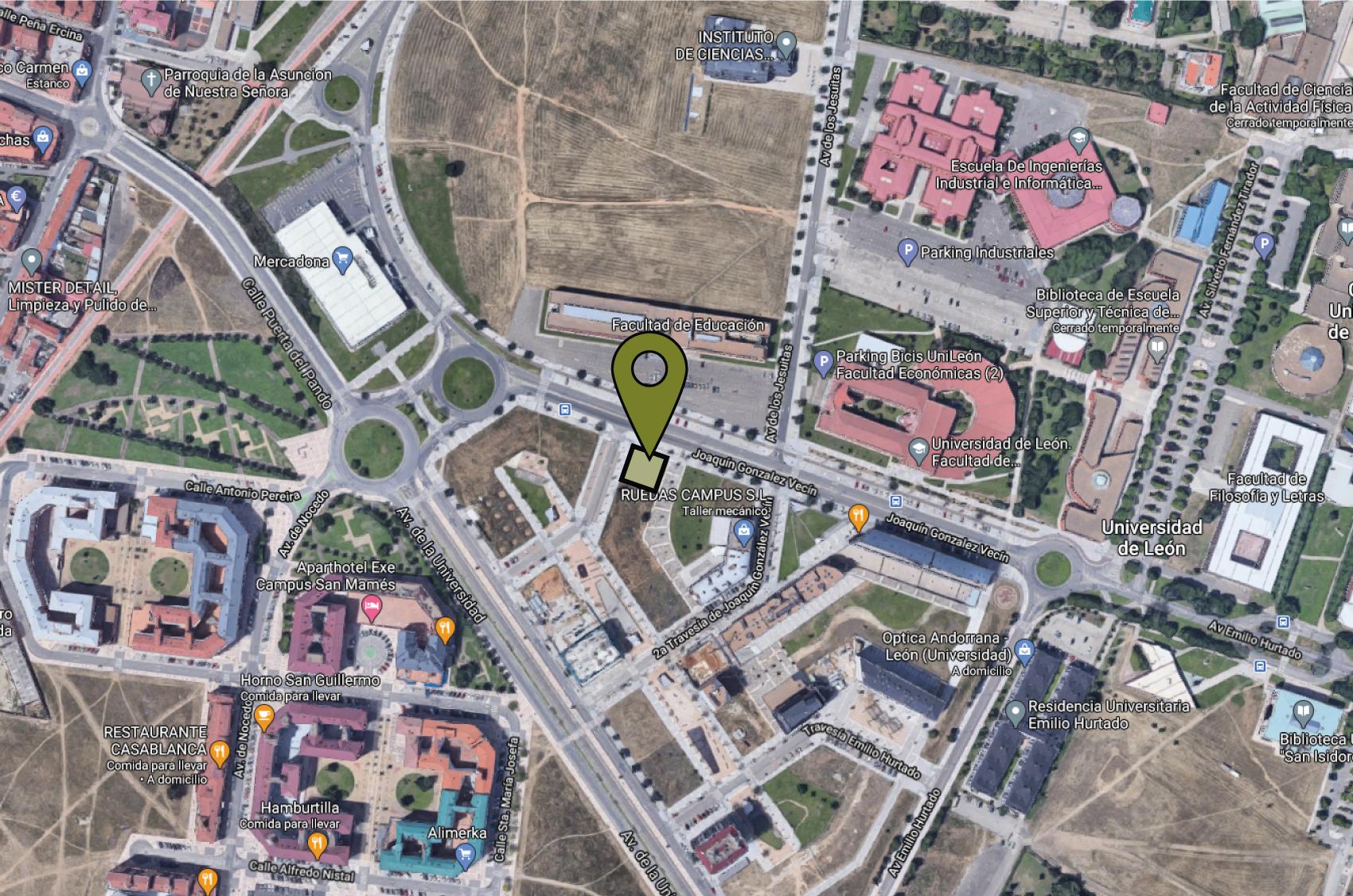 mapa promoción universidad, edificio passivhaus
